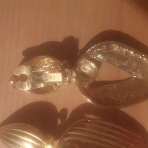 Vintage Paolo Door Knocker Clip On Earrings